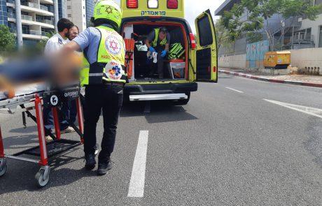 רוכב אופנוע נפצע בינוני מפגיעת רכב בדרך יצחק רבין/דגניה